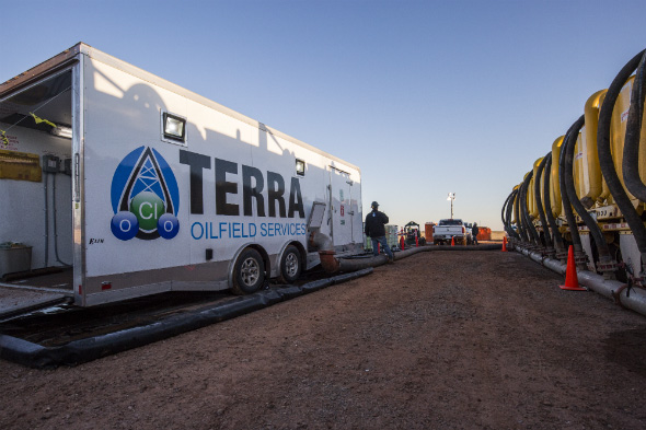 Chlorine Dioxide Water Treatment Photo | Terra Oilfield Services